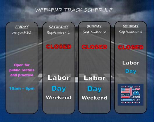 weekend schedule 083118